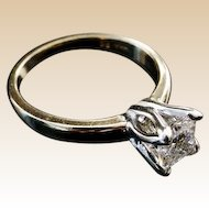 """Solitaire Diamond Ring in a Tulip Head Mounting """"RADIANT CUT"""""""
