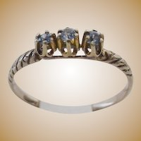 "14KARAT  Tanzanite  Ring "" Three Stones"""
