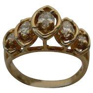 "Fabulous Five Diamond""Marquise Cut"" Diamond Ring"