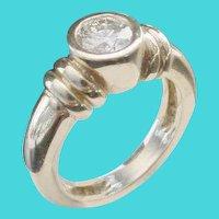 "Round Brilliant Cut Diamond ""Double Cuff"" 14KARAT Ring"