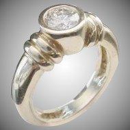 "Magnificent Round Brilliant Cut Diamond ""Double Cuff"" 14KARAT Ring"