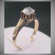Antique  Oval Diamond Ring   14KARAT