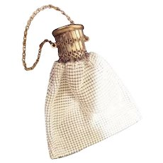 Vintage White Mesh Handbag Purse