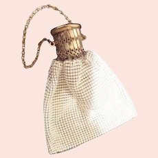 Vintage White Mesh Handbag Purse