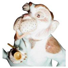 "9"" Sassy Dresden Monkey   ~ Smoking Pipe ~ So Adorable!"