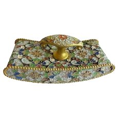 Antique French Cloisonné Blotter ~ A DESK Gem for a Beautiful Desk.