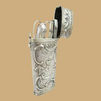 Antique French Silver Necessaire Etui  ~ Absolutely  Beautiful  and  Superior Quality
