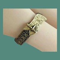 Antique 14KARAT Hair Ring ~ Exquisite Braided