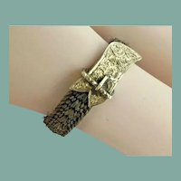 Antique 14KARAT Hair Ring ~ Exquisite Braided