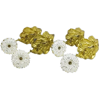 """19C French 11"""" Porcelain Drapery Curtain Tiebacks ~ Four Magnificent TIEBACKS ~Rare and Hard to Find"""