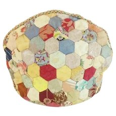Delightful Antique Crazy Quilt Tea Cozy ~  w Heavy Separate Lining