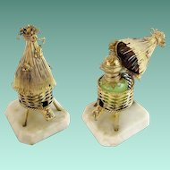 "Palais Royal Opaline Scent Caddy w Opaline Scent Bottle ""THATCH HUT & BEES"""