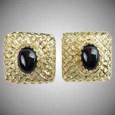 Elegant 14KARAT  Black Onyx Earring  ~ VERY FINE