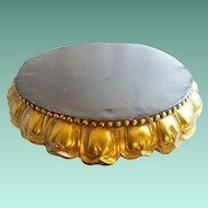 """BIG 22"""" Antique Bronze Plateau ~ WONDERFUL!  ~ Just the Perfect Place for a Massive Treasure to SIT!"""
