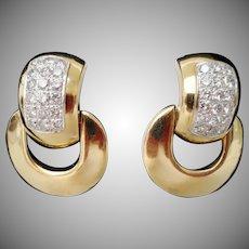 14Karat Diamond Door Knocker Earring ~ MAGNIFICENT ~ 4.60 carat TW