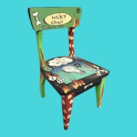 """1990 Wonderful Lucky Chair by Sally Davies  ~ """"To Inspire Great Ideas""""  ~   It covers it all  """"LUCKY CHAIR"""""""