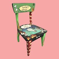 "1990 Wonderful Lucky Chair by Sally Davies  ~ ""To Inspire Great Ideas""  ~   It covers it all  ""LUCKY CHAIR"""
