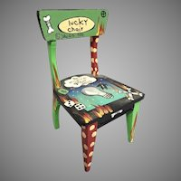 """A 1990 Wonderful Lucky Chair by Sally Davies  ~ """"To Inspire Great Ideas"""" ~   It covers it all  """"LUCKY CHAIR"""""""