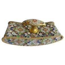 Antique French Cloisonné Blotter ~ A DESK Gem for a Beautiful Desk ~ Awesome Shape and Shape