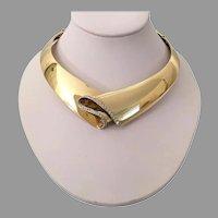 Magnificent Scavia 18KARAT Yellow Gold Diamond Choker Necklace