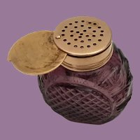 Antique Purple Cut Crystal Vinaigrette Gold Gilt Top ~ Very Fine ... Very Rare