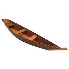 Vintage Miniature Wood Boat ~ QUALITY