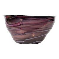 "17 ¾""  1986 Hawthorne & Norwark Studio Glass Bowl"