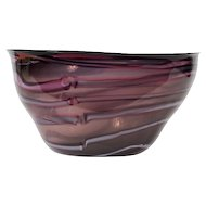 "17 ¾""  1986 Hawthorne & Norwark Studio Glass BOWL"