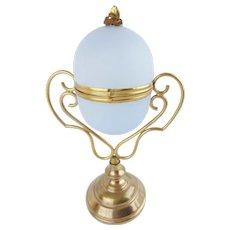 "BIG 9½"" Palais Royal Opaline Egg Box  ~ Fabulous Gilt Ormolu & RARE Lavender"