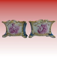 """Antique French Porcelain """"Playful Putti s""""  Cachepots. …YES a PAIR!"""