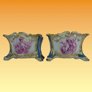 "Antique French Porcelain ""Playful Putti s""  Cachepots. …YES a PAIR!"