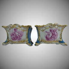"LAYAWAY Antique French Porcelain ""Playful Putti s""  Cachepots. …YES a PAIR!"