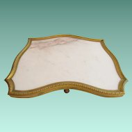 """Antique  French Bronze & Marble Plateau """"STUNNING SHAPE""""   #1"""