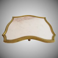"Antique  French Bronze & Marble Plateau ""STUNNING SHAPE""   #1"