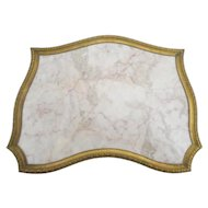 Pretty Antique French Bronze &  Marble Plateau  ~ Footed Base