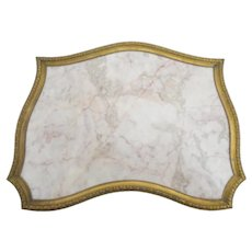 #2 Pretty Antique French Bronze &  Marble Plateau with Footed Base