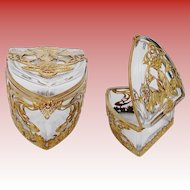 Antique French Empire Casket Hinged Box  ~ This is a Special Treasure ~ A BEAUTY!