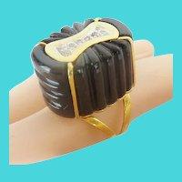 "Vintage Estate 14KARAT Yellow Gold Diamond Onyx Ring ""EXQUISITE & RARE"""