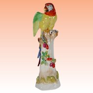"BIG & BEAUTIFUL 24"" Dresden Porcelain Parrot"