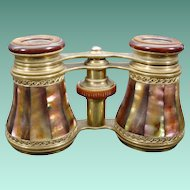 Rare French LEFILS PARIS Mother of Pearl Opera Glasses