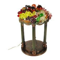 Magnificent Antique Glass Fruit Lamps
