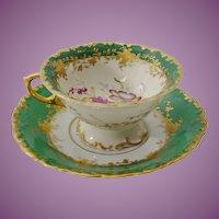 Beautiful Samson Green Porcelain Cup and Saucer
