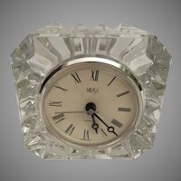 Vintage Estate  Miksas Riveria  Quartz Crystal  Desk Boudoir Clock
