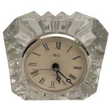 Vintage Estate  Miksas Riveria  Quartz Crystal  Desk Boudoir Clock