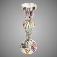 Glorious End of Day Glass Vase Candlestick  with Awesome Colors and EXQUISITE SHAPE!