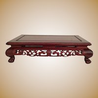 "21"" Exquisite Carved Chinese Plateau ~ Great for a Massive Treasure or a Small Collection ~ Carved Well and Absolutely Sturdy."