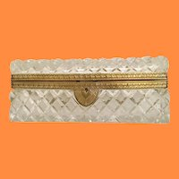 Gorgeous Big Cut Crystal Casket Hinged Box…A BEAUTY!