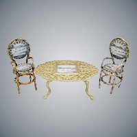 """Grand Tour Spa """"GT  Yarmouth  Souvenir Miniature Set   ~  Table and Two Chairs"""
