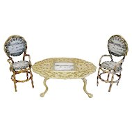 "Grand Tour Spa ""GT. Yarmouth"" Souvenir Miniature Table and Two Chairs"