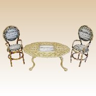"Grand Tour Spa ""GT  Yarmouth  Souvenir Miniature Set   ~  Table and Two Chairs"